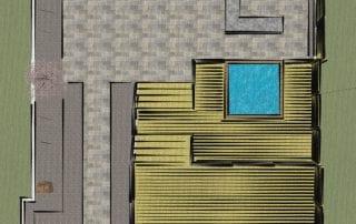 Backyard deck and garden oasis floor plan
