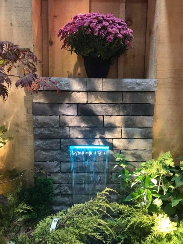 Waterfall fixture for the Ottawa Fall Home Show