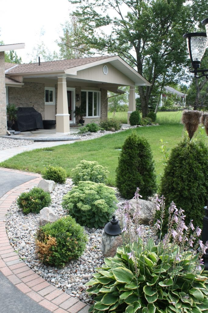 Landscape entrance garden