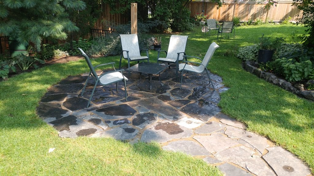 Natural stone circular patio