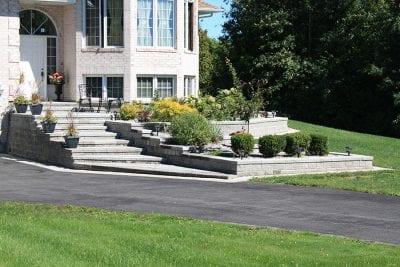 Elegant front entrance stairway