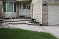 Entrance patio, walkways and full interlock driveway