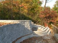 Interlock patio & retaining wall & steps