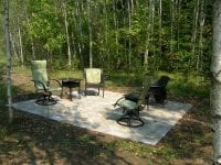 Interlock patio in a forest