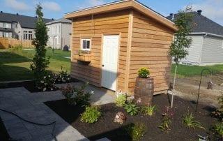 Cedar custom shed