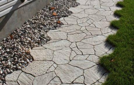 Stonework pathway