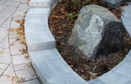 Elegantly designed stone fixture for patio walkway