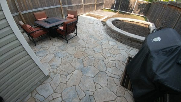 Backyard patio and garden