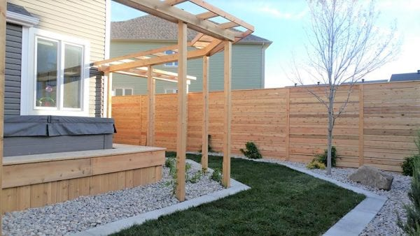 Cedar deck, pergola and fence