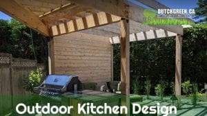 Dutch Green in Ottawa outdoor kitchen
