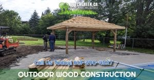 outdoor wood construction